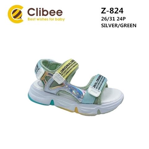 Clibee Z824 Silver/Green 26-31