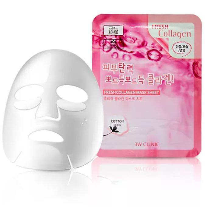 Тканевая маска с коллагеном 3W Clinic Fresh Collagen Mask Sheet