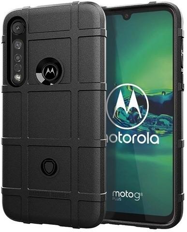 Чехол для Motorola Moto G8 plus цвет Black (черный), серия Armor от Caseport