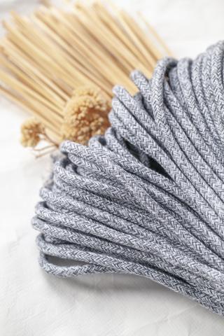 Хлопковый плетеный шнур меланж 5 мм