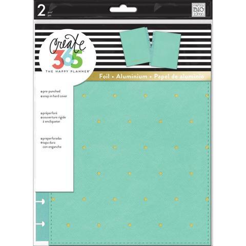 Обложка из экокожи для ежедневника Snap-In Cover - Turquoise / Gold Dots - CLASSIC