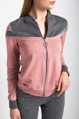 Спортивный костюм женский серо-розовый надя