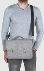 Серый войлочный портфель Gmakin для Macbook Air/Pro 13,3