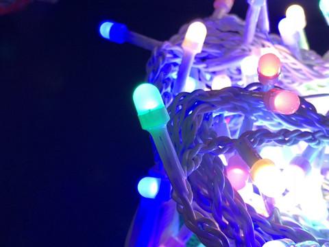 Штора-гірлянда матова Лінза D 400 LED 5.5 на 2 м. кольорова