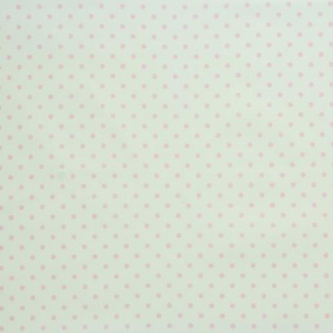 Ткань хлопковая светло-розовый горошек, отрез 50*80 см