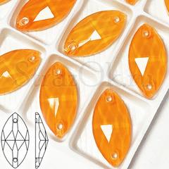 Стразы пришивные неоновые купить оптом Neon Orange, Navette недорого