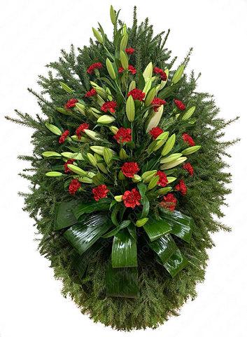 Траурный венок из живых цветов ВЖ 24