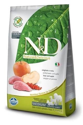 купить Farmina N&D Boar & Apple Adult Medium сухой беззерновой корм для взрослых собак всех пород