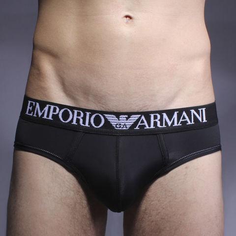 Мужские трусы брифы черные Emporio Armani Basic Intimates Brief