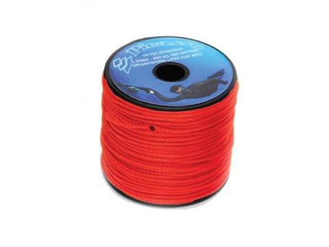 Линь-дайнема picasso 1,5 мм, на разрыв 300кг, шпуля 100 метров - красный, цена за 1 метр