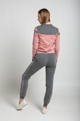 Спортивный костюм женский серо-розовый недорого