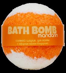 Шарик для ванн соляной Mandarin (мандарин), 160g ТМ Savonry