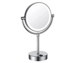 Косметическое зеркало WasserKRAFT K-1005 двухстороннее, с LED-подсветкой, с 3-х кратным увеличением