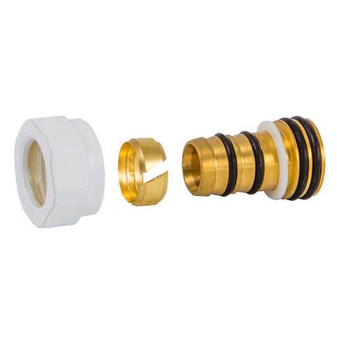 Резьбовое соединение для пластиковых труб белое GW 22x1.5 x 16x2