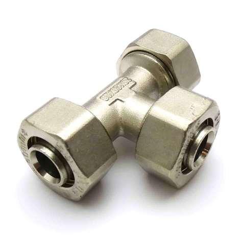 Тройник обжимной равносторонний для металлопластиковых труб  20 мм SD Plus