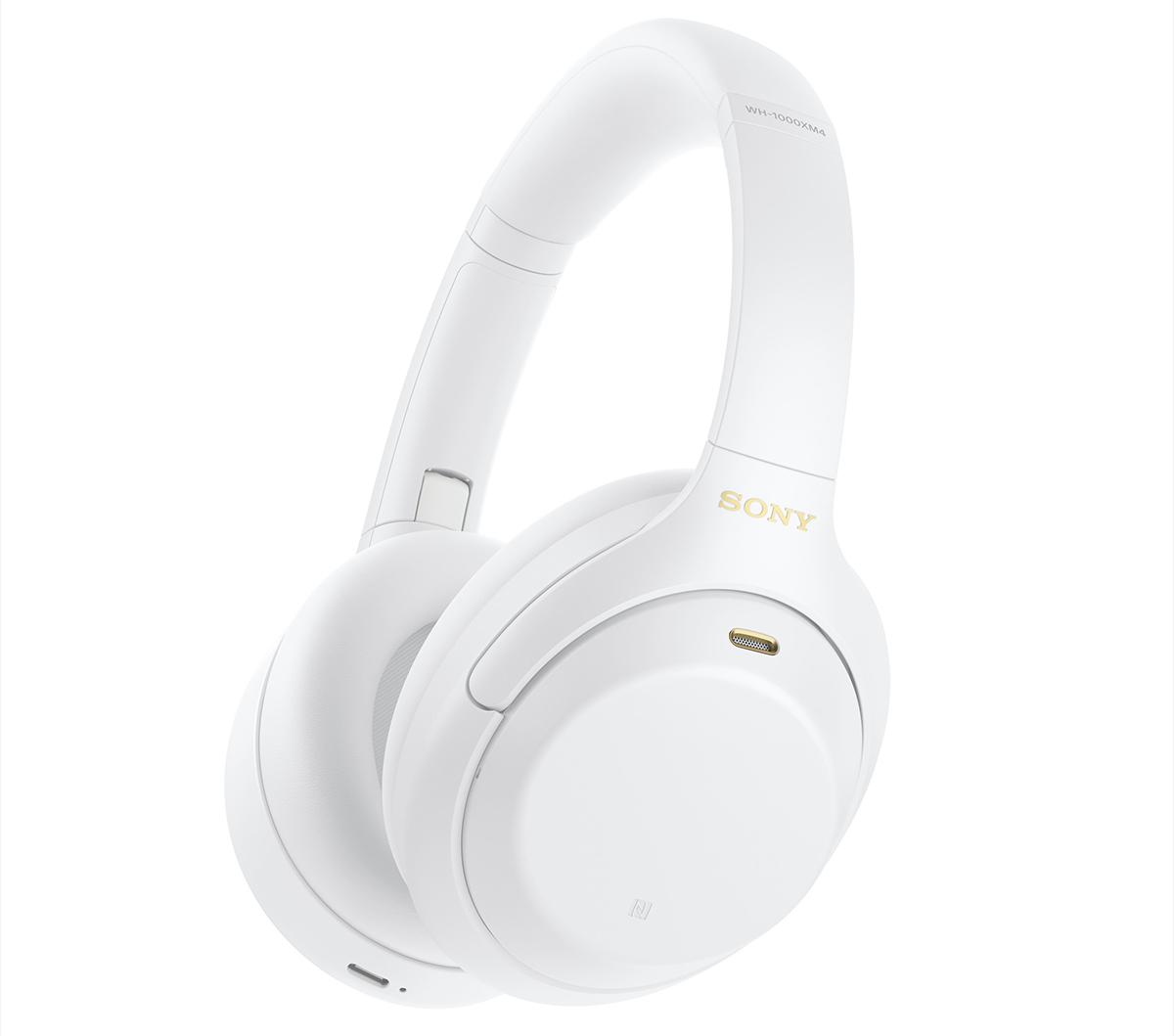 WH-1000XM4W беспроводные наушники Sony, цвет безмятежный белый