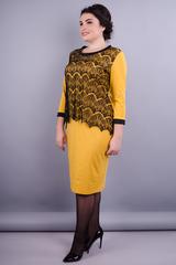 Винтаж. Нарядное платье плюс сайз для женщин. Золотистый.
