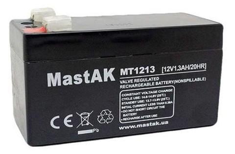 Аккумулятор Mastak MT1213 12V, 1.3Ah