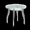 стол обеденный круглый стеклянный В1
