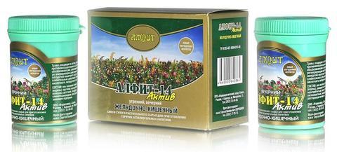 Чай Алфит-Актив № 14 желудочно-кишечный, 60 бр. (Гален)