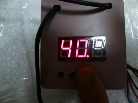 Терморегулятор цифров c измерит. влажности 220 в.