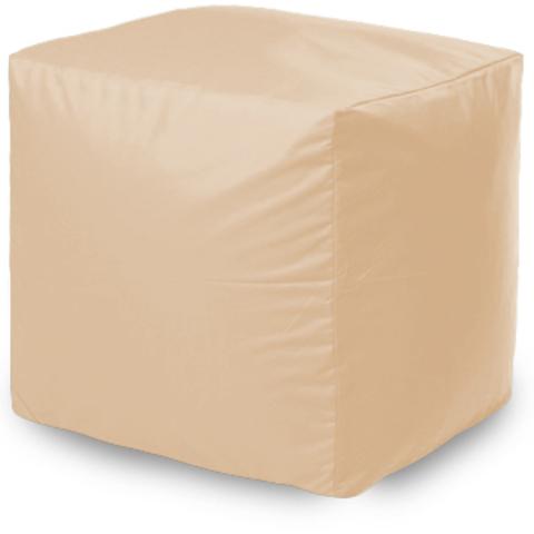 Пуффбери Внешний чехол Пуфик квадратный  40x40x40, Оксфорд Бежевый