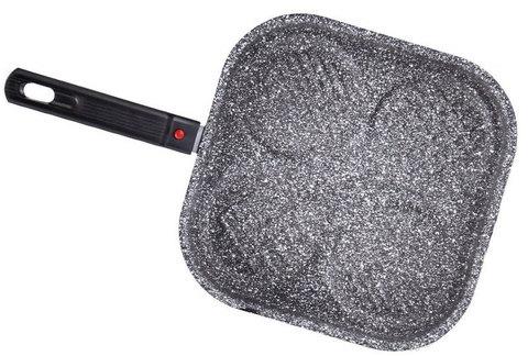 Сковорода-гриль с антипригарным покрытием non-stick под мрамор