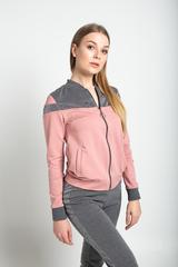 Спортивный костюм женский серо-розовый магазин