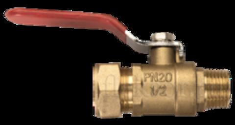 Соединение кран шаровый наружняя резьба (папа)- труба NHV 15*1/2 - Hydrosta Flexy