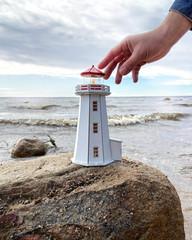 3D-модель сборная деревянная «Маяк Пеггис Ков (Канада)», 26 см, Россия