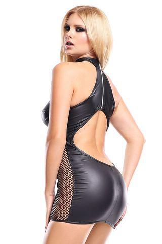 Шикарное платье Feme с сетчатыми вставками и вырезом на спинке