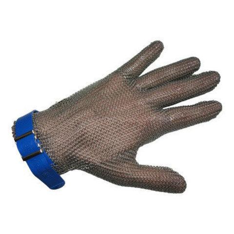 Перчатка кольчужная 5 пал  (L бол синяя) | Soliy.com.ua