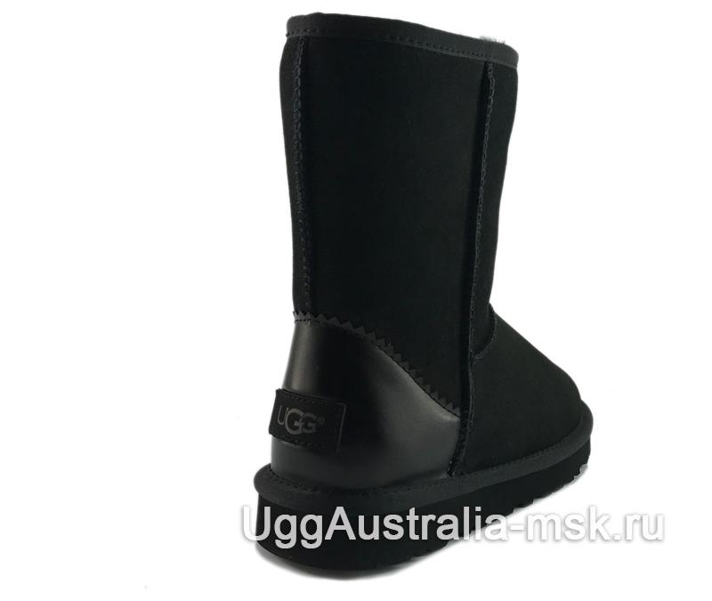 UGG Classic Short II Metallic Black