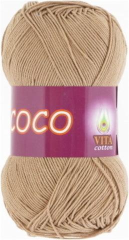 Пряжа Coco (Vita cotton) 4312 Теплый бежевый