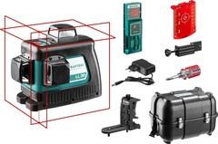 KRAFTOOL LL-3D #3 нивелир лазерный, 3х360° , 20м/70м, IP54, точн. +/-0,2 мм/м, держатель, БП, детектор, в кейсе