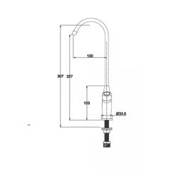 Kaiser Mono P002, смеситель для фильтра схема