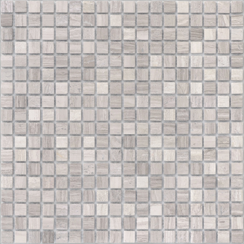 Мозаика Travertino Silver MAT 15x15x4 305х305