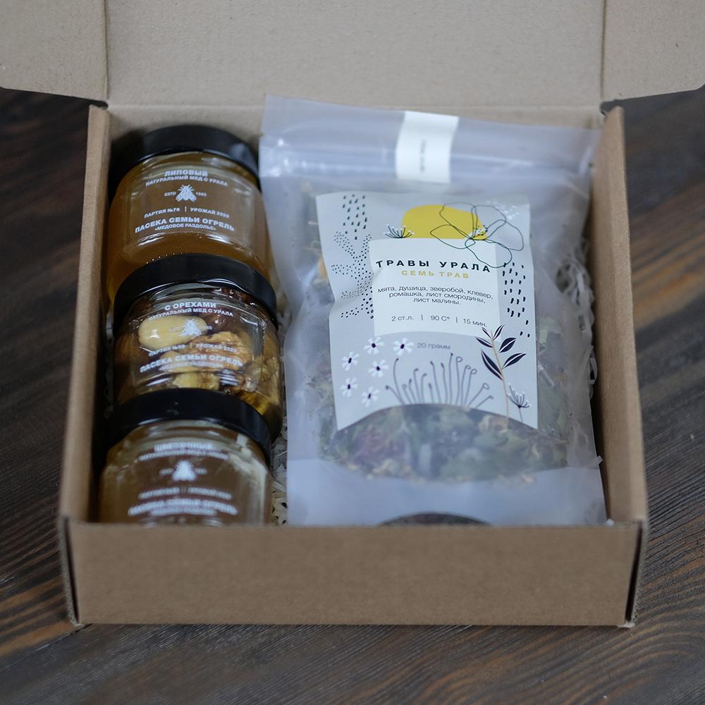 Купить подарочный набор натуральный мед и чай из трав  Пермь