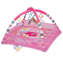 Funkids Развивающий коврик c бортиками Слоненок с шариками (розовый) (CC9036)