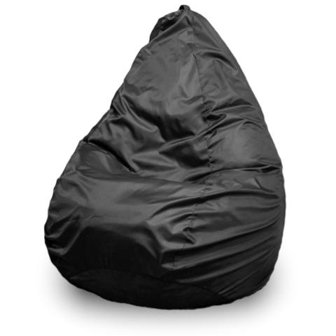 Пуффбери Внешний чехол Кресло-мешок груша  L, Оксфорд Черный