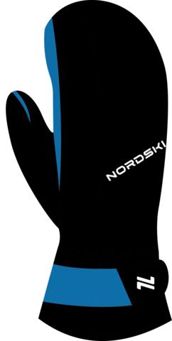 Варежки Nordski Arctic Black/Blue membrane