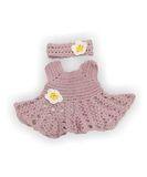 Вязаный сарафан и полоска - Сиреневый. Одежда для кукол, пупсов и мягких игрушек.
