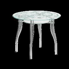 Круглый стеклянный стол В1