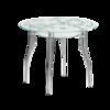 В1 столик стеклянный круглый