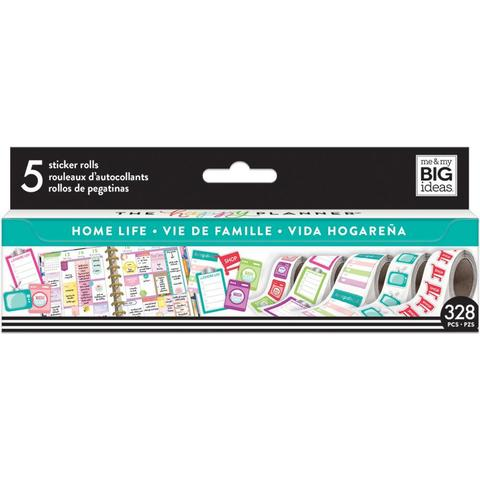 Набор стикеров в рулоне Happy Planner Sticker Roll -Home Life- 360 шт.