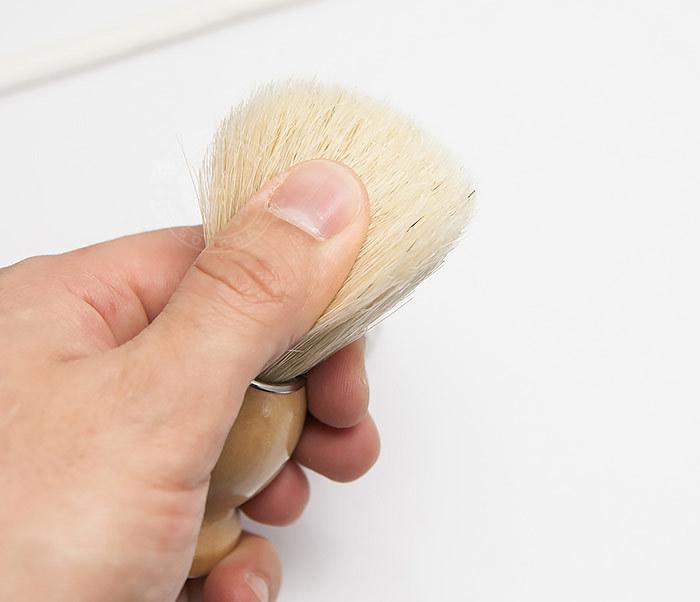 RAZ302-3 Помазок для бритья с деревянной рукояткой фото 05