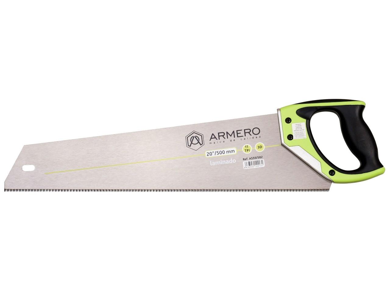 Ножовка для ламината A533/502, 500мм, 3d, мелкий зуб