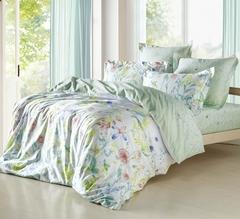 Сатиновое постельное бельё  2 спальное  В-161