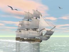 Картина раскраска по номерам 40x50 Корабль в тихом море