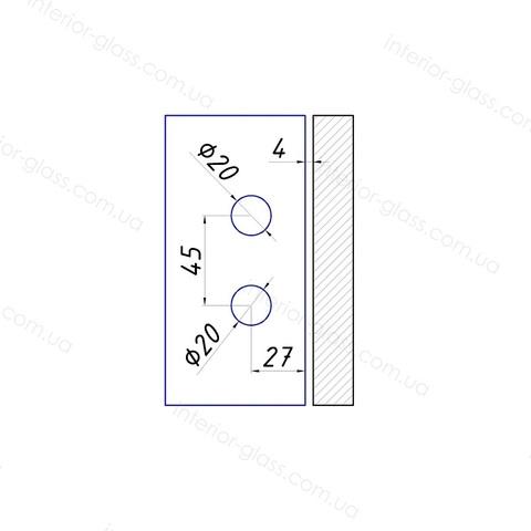 Петля для стеклянных дверей ST-111AL